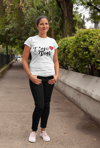 I Love Dogs With A Heart - Ladies' Favorite Tee