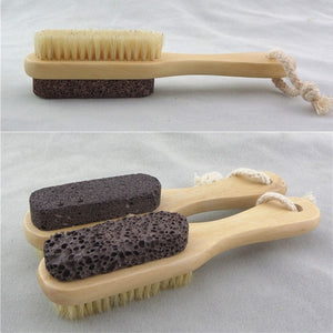 Multifunctional Double Side Foot Brush Rub Feet Exfoliating Pedicure Tool NEW