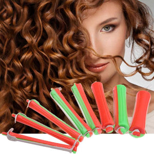 80pcs Reusable Cold Wave Perm Rod Corn Hair Hairdressing Clip Curler Maker Styling DIY Tool for Salon Rubber Band Travel Home