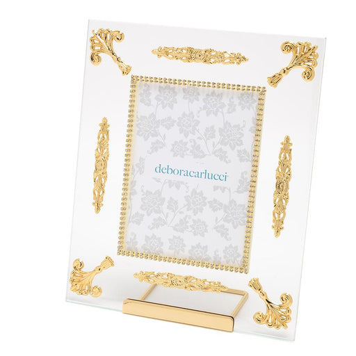 Debora Carlucci Glass Photo Frame with Metal Frame - Gold and Clear - DC5557/OR