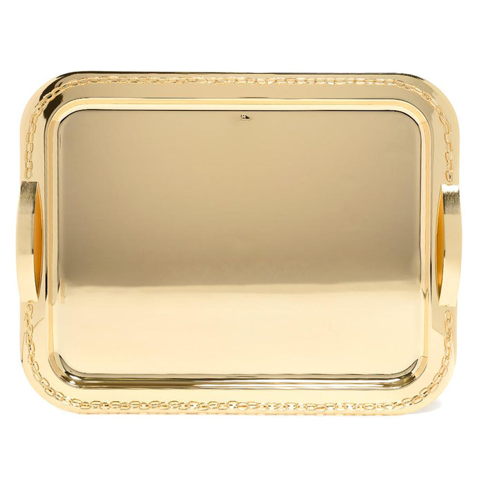 Pantazelos Gold Plated Set Chain Tray - Gold, Large - Q-5545/GP