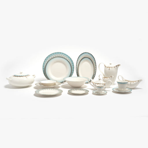 Porland Porselen Mahpeyker Dinner Set - 85 Piece - 04ALM004204