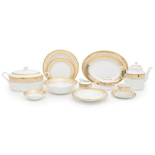 Dankotuwa Porcelain Luann Dinner Set - 59 Piece - LUAN-59DS