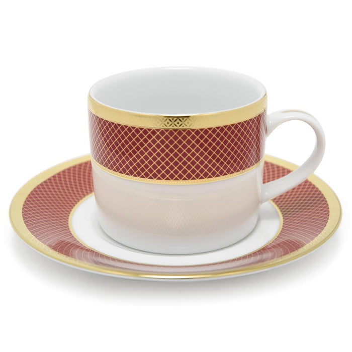 Dankotuwa Cherie Tea Cup and Saucer Set - 12 Piece - CHER-687/689