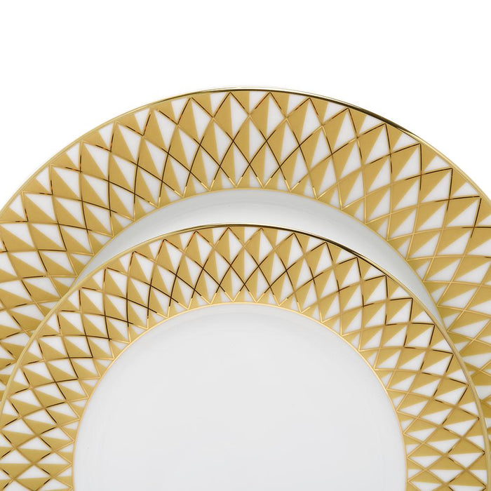 Dankotuwa Xenia Dinner Set - White and Gold, 24 Piece - XENA-24DS
