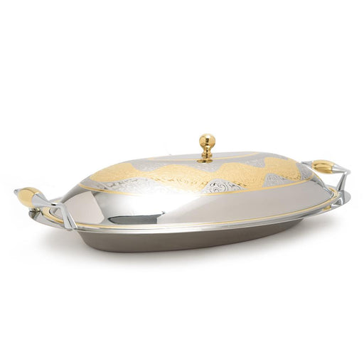 Brignani Jules Oval Risotto Tray with Lid - Gold, 46 x 28 cm - RO-1460/JUL-G