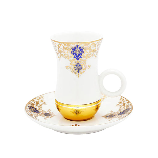 Amber Selma 12 Piece Istikan Cup and Saucer Set - AM3373-S28/025/12PC