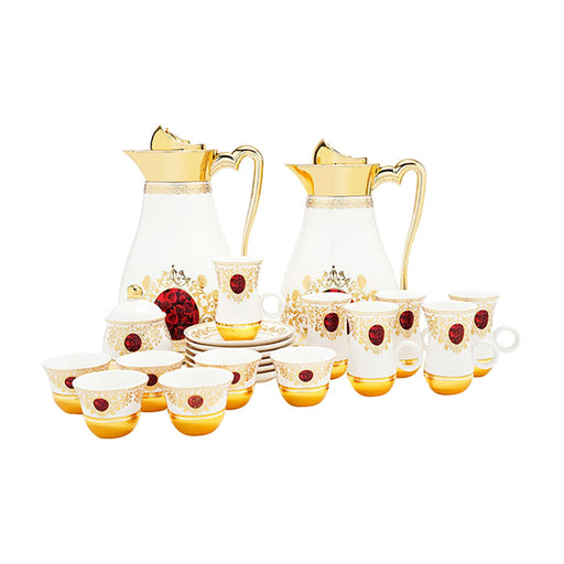 Amber Marjani 22 Piece Flask Tea Set - AM3373-S28/028/22PC