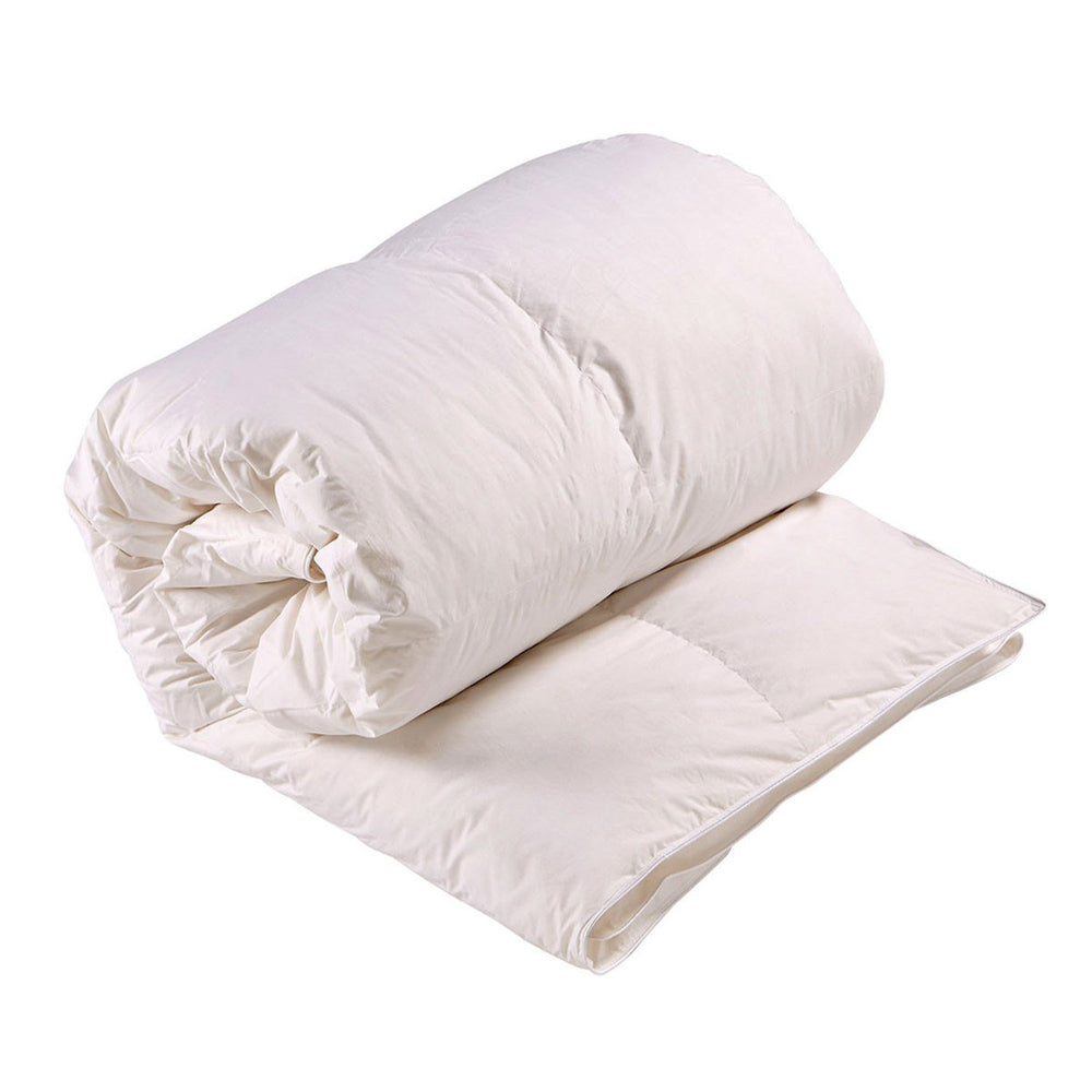 Christy Hungarian Goose Feather and Down 10.5 Tog Super King Size Duvet Cover - White - 48632410