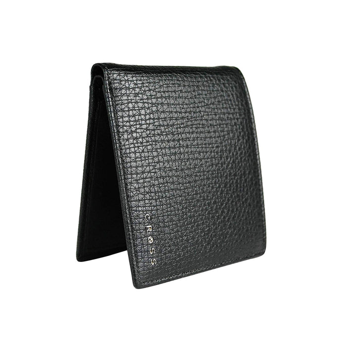 Cross Leather Bifold Coin Wallet for Men Leather - Black - AC238072N-1