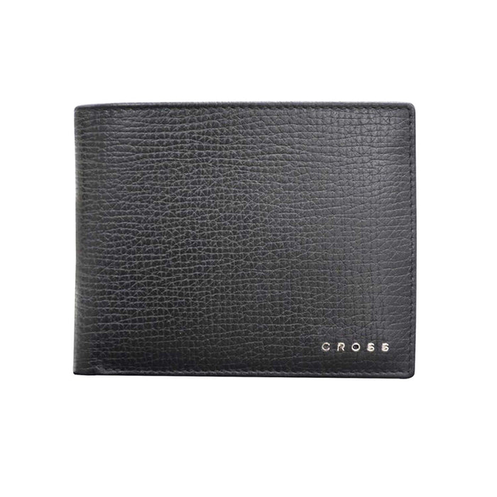 Cross Leather RTC Slim Wallet with 8 Card Compartments for Men Leather - Black - AC238121N-1