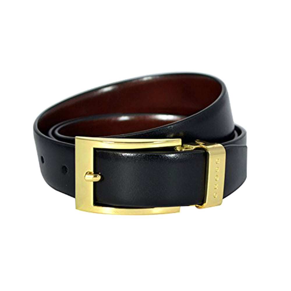 Cross Leather Almeria Cut To Fit Style Reversible Belt with 30mm Prolonged Buckle for Men Genuine Leather - Black and Brown XXL - AC328155N-XXL