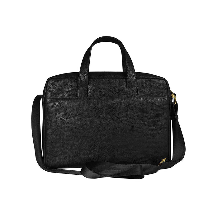 Cross Leather RTC Slim Briefcase for Men Leather - Black - AC231213-1-1
