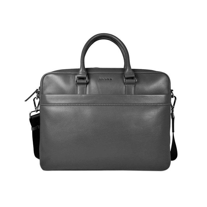 Cross Leather Renovar Slim Briefcase for Men Leather - Black - AC941261-1-1