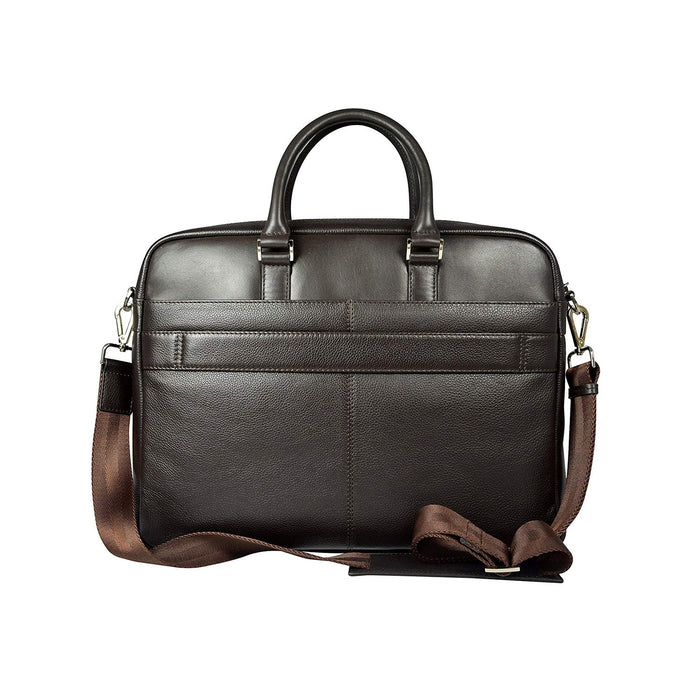 Cross Leather Renovar Slim Briefcase for Men Leather - Oak Brown - AC941261-1-3