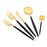 Cutipol 75 Piece Cutlery Set - Matt Gold and Black - GOA/MGLD/75