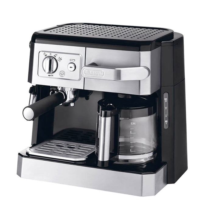 De'Longhi Combi Coffee Machine - Black and Silver - BCO420