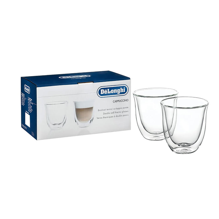 De'Longhi 2 Piece Cappuccino Glasses - Clear - 5513214601