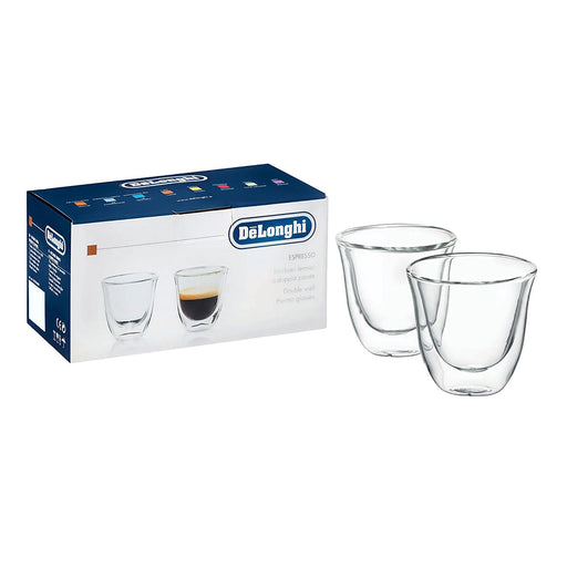 De'Longhi 2 Piece Espresso Glasses - Clear - 5513214591