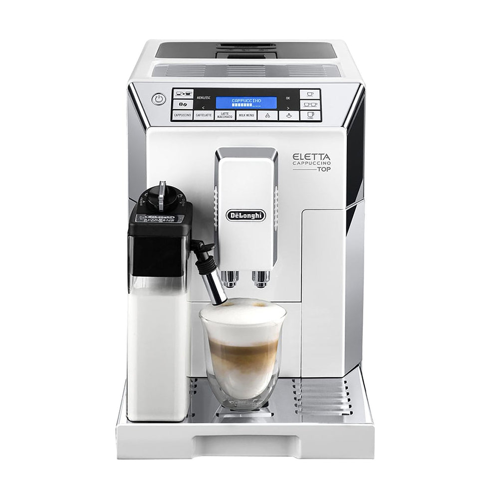 De'Longhi Eletta Cappuccino Top Fully Automatic Coffee Machine - White and Silver - ECAM45.760.W