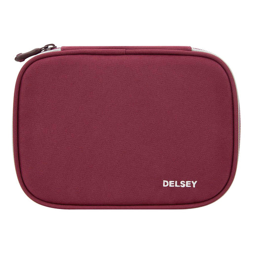 Delsey Back to School 2018 Large Pencil Case - Raspberry - 00339317524 RASPBERRY