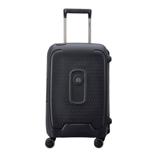 Delsey Moncey 4 Double Wheel Cabin Trolley Case - Black - 00384480100 BLACK