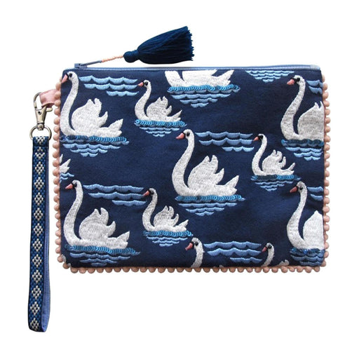 Disaster Designs Secret Garden Swan Pouch - Blue - SECPOUSWA