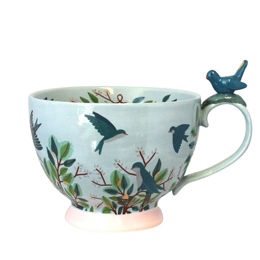 Disaster Designs Secret Garden Bird Teacup with Gift Box - Blue - SECCUPBIR