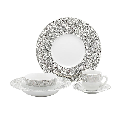 Zaklady Lucinda Platinum 24 Piece Dinner Set - LUCPLT/24DS