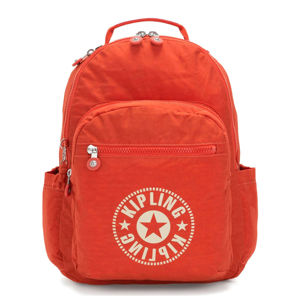 Kipling Seoul Backpack with Laptop Protection - Funky Orange NC - I3335-67H