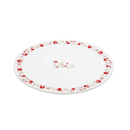 Kitchen Craft Winter Woodland Serving Plate - Red and White, 30 cm - FFPLATRD