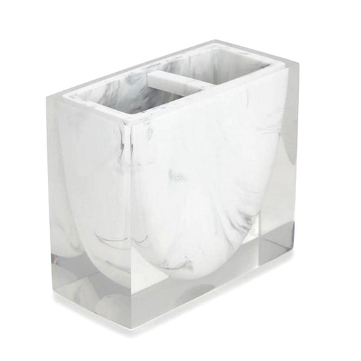 Kassatex Ducale Resin Marble Toothbrush Holder - ADE-TBH-WB