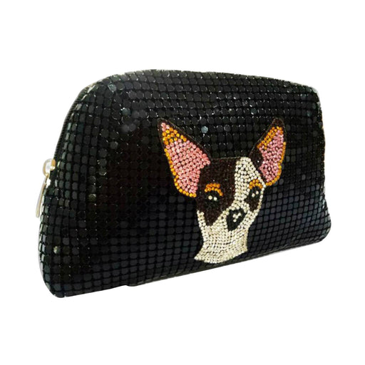 Moliabal Chihuahua Pochette with Box for Women - Black - 997