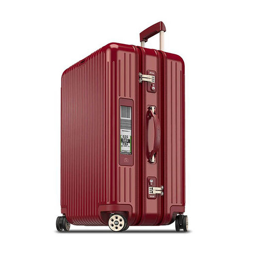 Rimowa Salsa Deluxe 3-suiter Electronic Tag Luggage Trolley Bag - Oriental Red - 831.75.53.5 RED