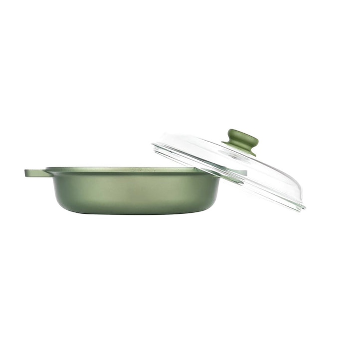 Risoli Saucepan with Glass Lid - Dark Green - 00099DR/28GS