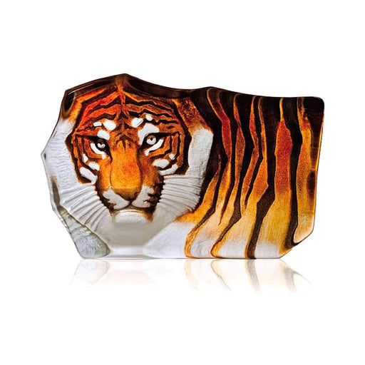 Maleras Wildlife Tiger Crystal Sculpture - Orange, Small - 33850