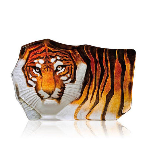 Maleras Wildlife Tiger Crystal Sculpture - Orange, Large - 33851