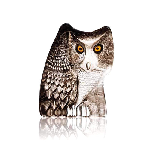 Maleras Wildlife Owl Crystal Sculpture - Brown, Small - 33924