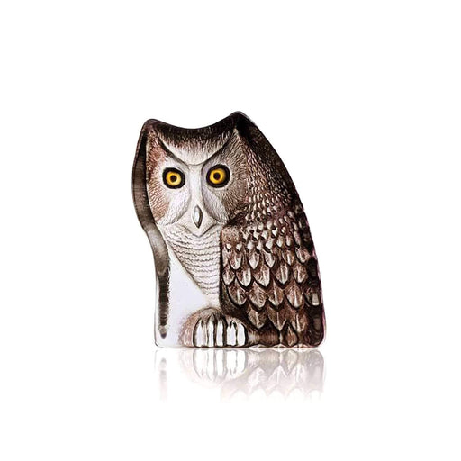 Maleras Wildlife Owl Crystal Sculpture - Brown, Large - 33925