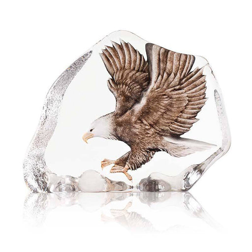 Maleras Wildlife Sea Eagle Crystal Sculpture - Brown - 34087