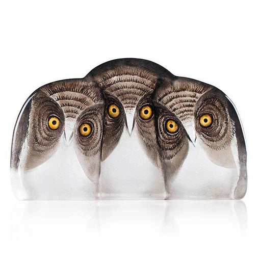 Maleras Wildlife Owls Crystal Sculpture - Brown - 34107