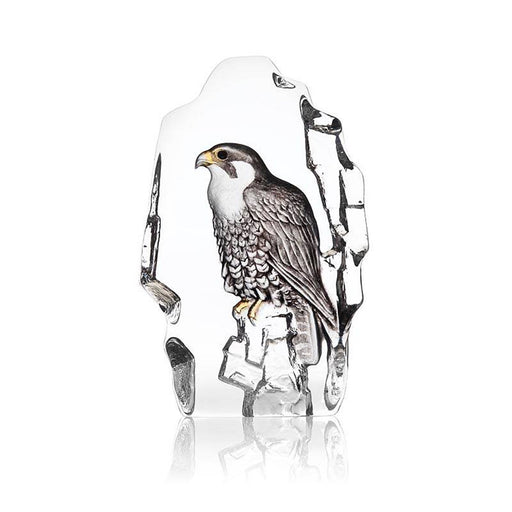 Maleras Wildlife Falcon Crystal Sculpture - Brown  - 34212