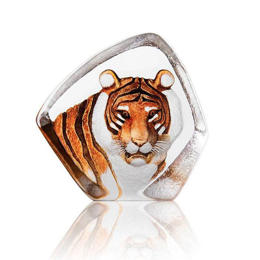 Maleras Wildlife Tiger Crystal Sculpture - Orange - 33861