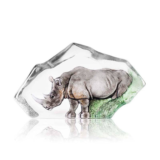 Maleras Wildlife Rhino Crystal Sculpture - Grey - 34115