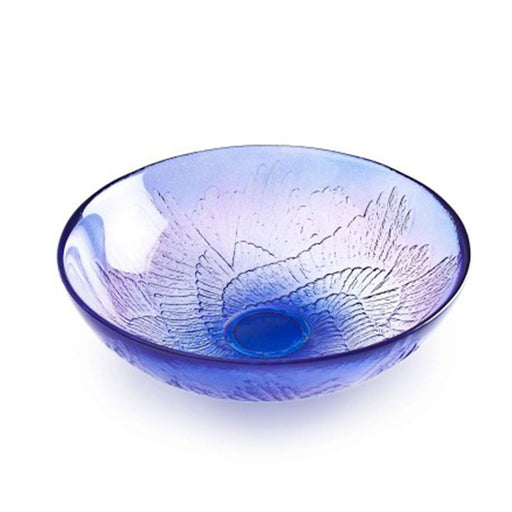 Maleras Wings Paradiso Crystal Bowl - Purple and Blue - 56005