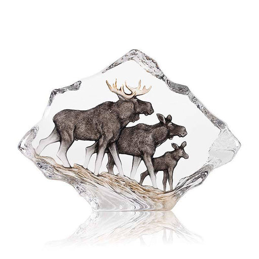 Maleras Wildlife Moose Family Crystal Sculpture - Brown - 34068