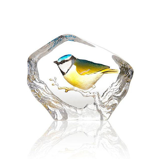 Maleras Wildlife Blue-Tit Crystal Sculpture - Multicolour - 34266