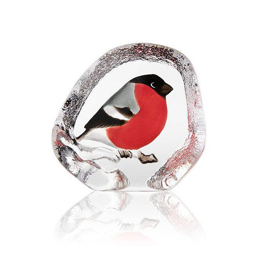 Maleras Wildlife Bullfinch Crystal Sculpture - Multicolour - 34281