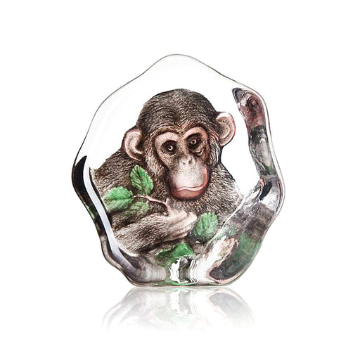 Maleras Wildlife Chimpanzee Crystal Sculpture - Brown  - 34202