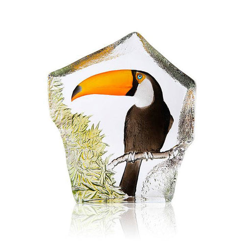 Maleras Wildlife Toucan Crystal Sculpture - Multicolour - 34283